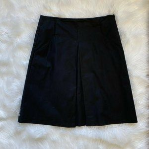 Zara Woman Pleated A Line Skirt Solid Black Size L